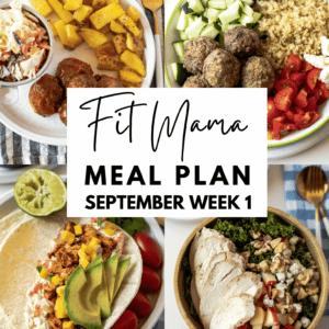September Week 1 Meal Plan