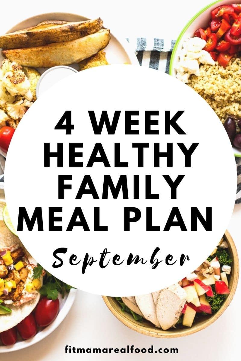 4 week meal plan September
