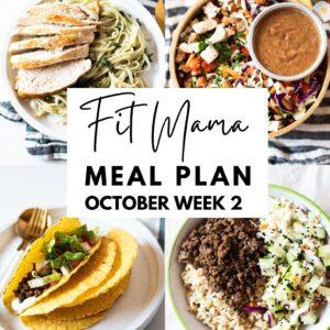 October Week 2 Meal Plan
