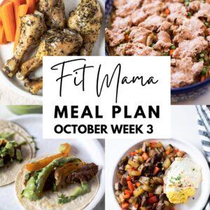 October week 3 meal plan