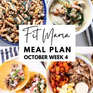 October week 4 meal plan