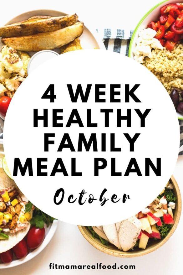 4 week meal plan October